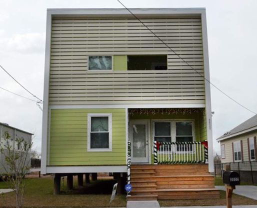 One of the Make It Right homes in New Orleans (Advocate Photo by Veronica Dominach)