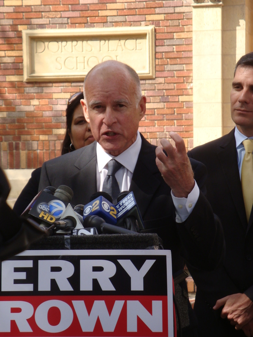 The Governor of California Jerry Brown just issued mandatory water restrictions. Credit: Wikipedia