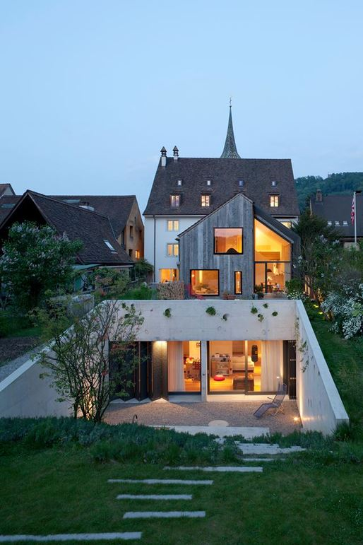 Kirchplatz Residence, Switzerland by Oppenheim Architecture and Design. Photo © Børje Müller Fotografie