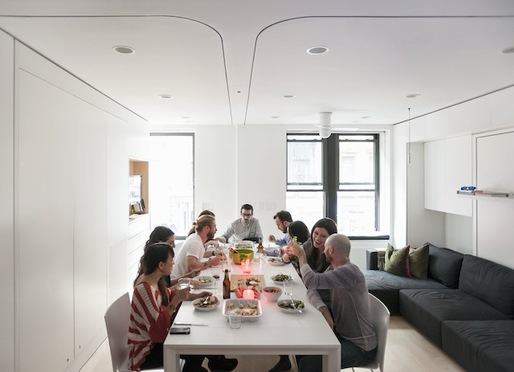 The Tiny Transforming Apartment That Packs Eight Rooms into 420 ...