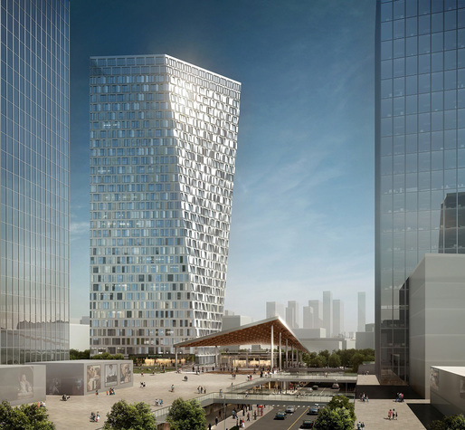Xuhui Binjian Media City 188S-G-1 Tower and Podium (Image: Aedas)