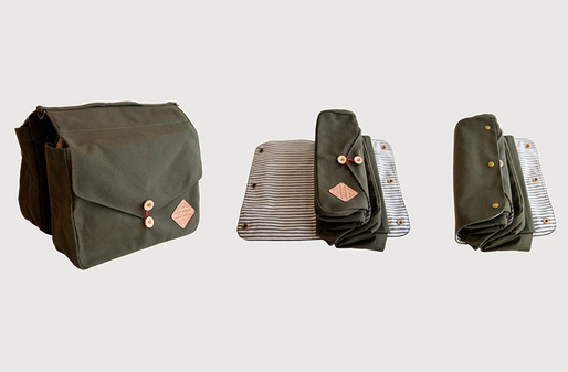 SR + WS Bicycle Saddlebag (designed in collaboration with Winter Session, Denver, CO); Photo courtesy of Scout Regalia
