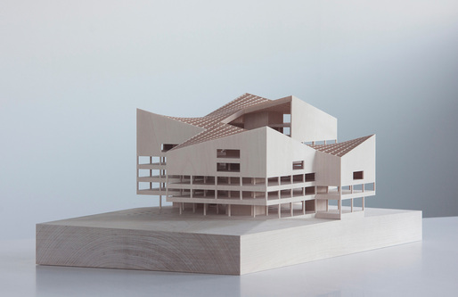 Scale model of Bildungshaus library and education center in Wolfburg, Germany. Image courtesy of Esa Ruskeepää Architects