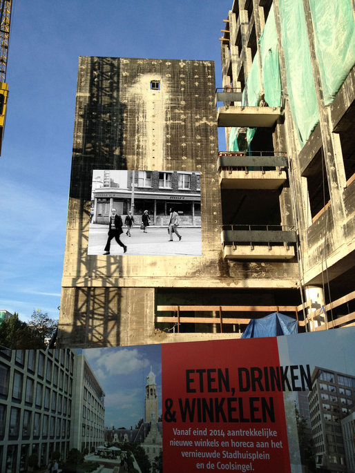 """The Girl Chewing Gum"" on the Coolsingel, image via Elsbeth Grievink."