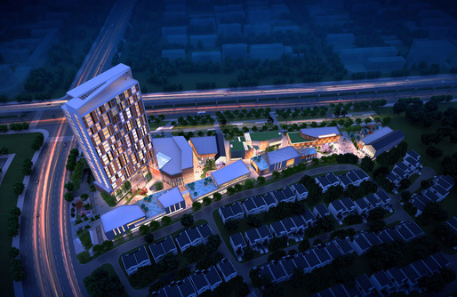Mixed-Use Complex in Wuxi, China by Cordogan Clark & Associates: Aerial View