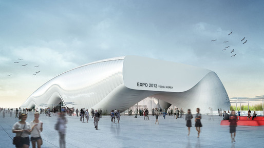 Rendering of One Ocean, Thematic Pavilion EXPO 2012 in Yeosu, South Korea (Image: soma)