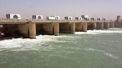 The Islamic State sabotaged the Fallujah barrage and flooded vast areas. Credit: Google via RT