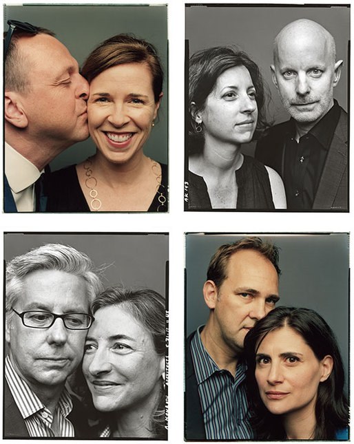 Clockwise from top left: Gregg Pasquarelli and Kimberly Holden (m. 1997); Coren and William Sharples (m. 1995); Dan Wood and Amale Andraos (m. 2001); Michael Manfredi and Marion Weiss (m. 1992). (Photo: Andreas Laszlo Konrath)