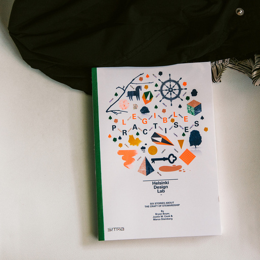 Legible Practises is a book about changing the behavior and output of large organizations by starting with small projects that demonstrate a concrete difference. (http://www.helsinkidesignlab.org/pages/legible-practises)