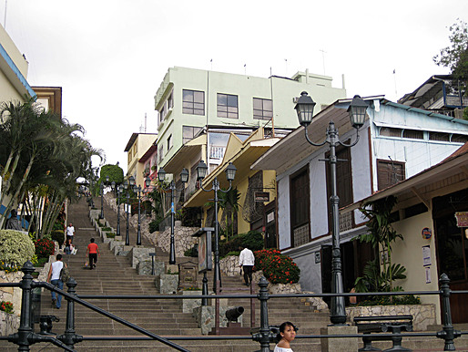Las Peñas and the Santa Ana Hill, Guayaquil (Ecuador). Las Peñas and the Santa Ana Hill were renovated as part of the