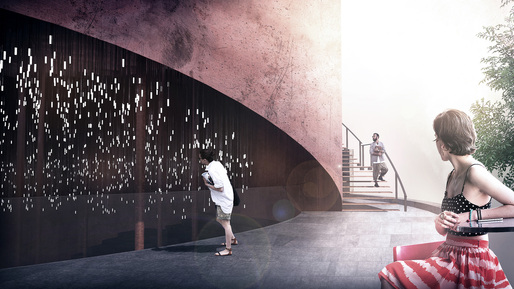 First prize entry: Resonance of Light: Proposal for Mapo Oil Reserve Base. Image courtesy of Sunggi Park and Hyemin Jang.