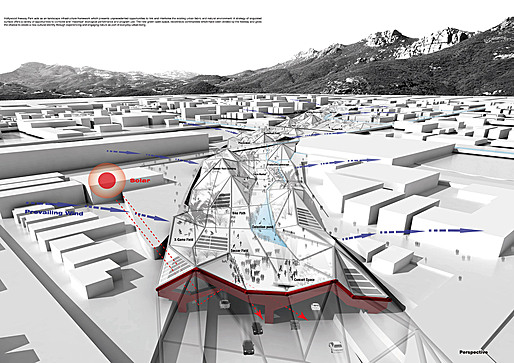 USC Graduate Design Studio – Hollywood Freeway Central Park, Los Angeles, CA; Graphics courtesy of Student Meng Yang