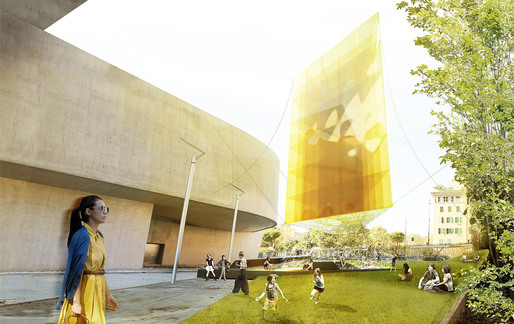 Rendering of bam!s He, winning design of the 2013 Young Architects Program, MAXXI (image: bam!)