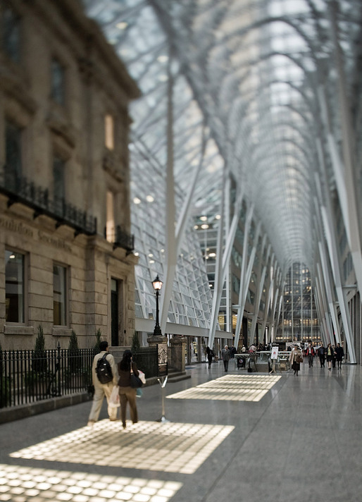 Allen Lambert Galleria by Santiago Calatrava at Brookfield Place, Toronto, ON © Sam Javanrouh