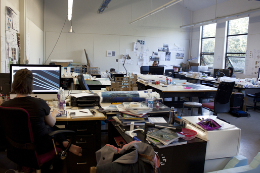 M.Arch thesis students at work, Fall 2013.