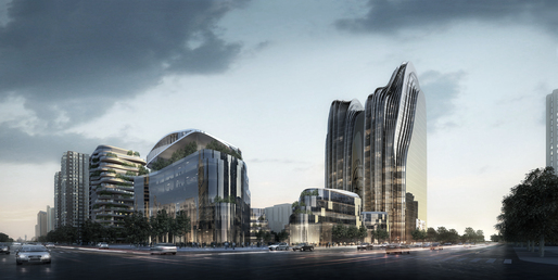 Chaoyang Park Plaza, courtesy of MAD Architects.