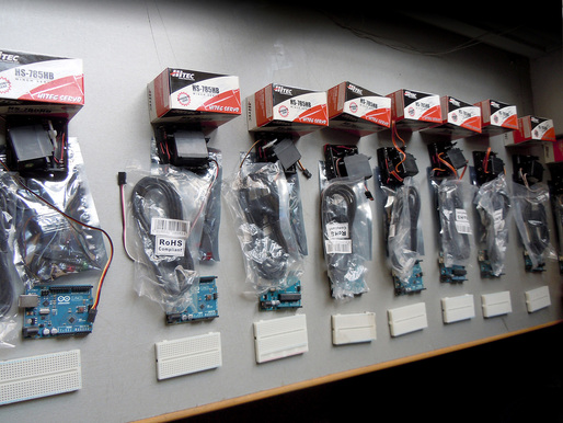 Arduino kits to be used by each team (Photo: Alexandros Kallegias)