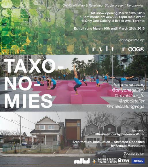 Taxonomies exhibition poster