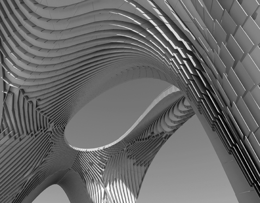 zaha hadid architects pleated shell structures sci arc gallery exhibition opens october 12 at. Black Bedroom Furniture Sets. Home Design Ideas