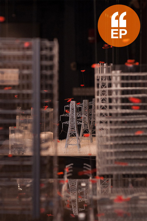 'Air Rights' – exhibition - Model by Kathryn Drietzler. Photo by Paul McBrdie, courtesy Taubman College of Architecture and Urban Planning