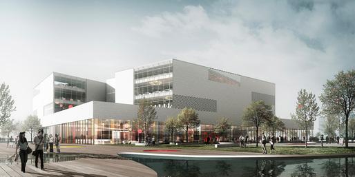 Ningbo New Library by schmidt hammer lassen. Image: schmidt hammer lassen architects.