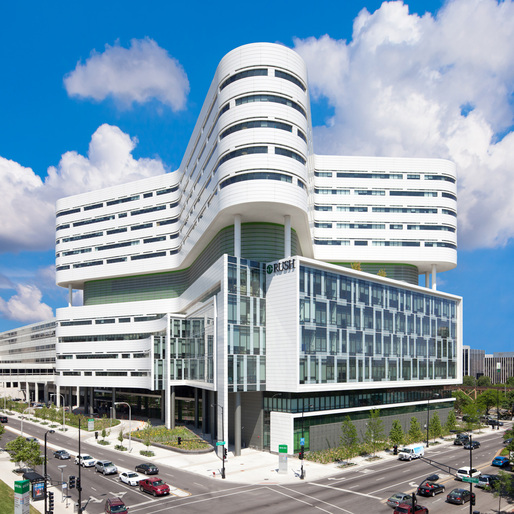 Rush University Medical Center Hospital by Perkins + Will Chicago, Photo by Robert R. Gigliotti