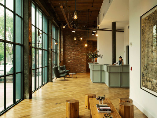 The Wythe Hotel by Workstead (interior + lighting design). Photo © Workstead