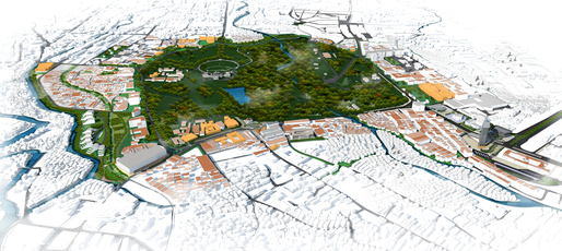 Aerial view of the Bogor Heritage City