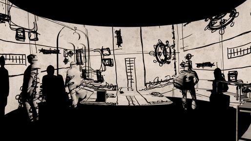 Interior rendering of the exhibition. Courtesy Ricardo Bofill Taller de Arquitectura 2014.