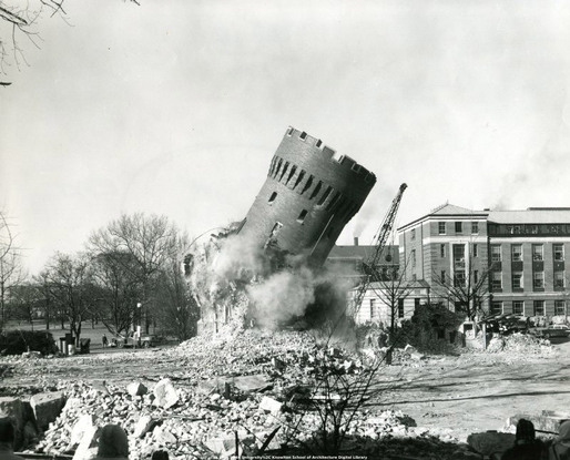 Armory demolition, 1959 (historical photos from the archives at The Ohio State University Knowlton School of Architecture Digital Library) via Alexander Maymind