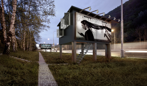 Rendering of the Gregory Project billboard home. Credit: The Gregory Project, Designdevelop