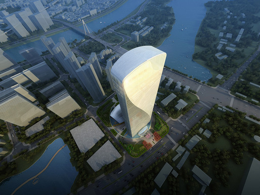 Aerial view of Qintai Center (Image: Adrian Smith + Gordon Gill Architecture)