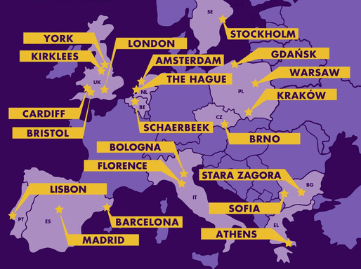 Finalists of the Bloomberg Philanthropies' Mayors Challenge European competition