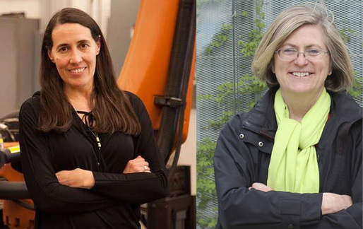 Monica Ponce de Leon (L) and Cynthia Davidson, co-curators of the US Pavilion for the 2016 Venice Architecture Biennale.