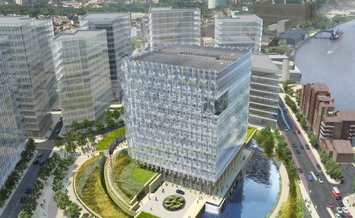 Construction is now underway at the new U.S. Embassy in London designed by KieranTimberlake