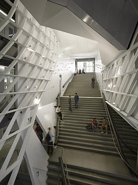 Morphosis: 41 Cooper Square, main stair