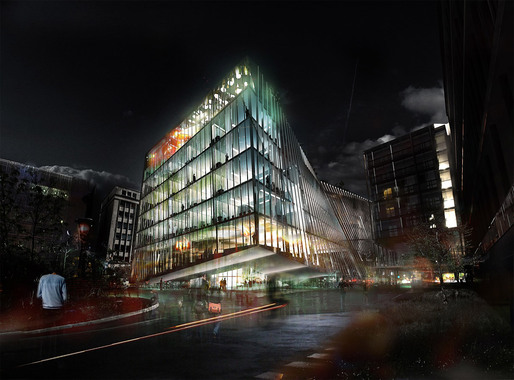 Visualization of the proposed University Research Center in Paris by BIG &amp; OFF (Image: BIG + OFF)
