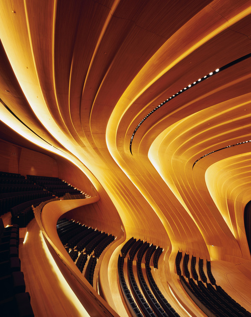 Shortlisted in Culture: Heydar Aliyev Center by Zaha Hadid Architects (UK); Photo: Helene Binet