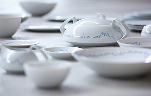 "BIG + KILO's new ""BIG Cities"" tablew"" are for porcelain manufacturer Rosenthal's TAC collection. Photo courtesy of BIG."