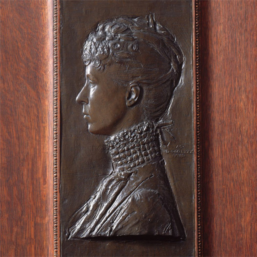 Augustus Saint Gaudens, Mrs. Schuyler Van Rensselaer (Mariana Griswold), bronze relief, 1888. [In the collection of the Metropolitan Museum of Art] 