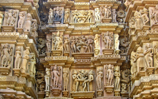 The infamous effigies of Khajuraho