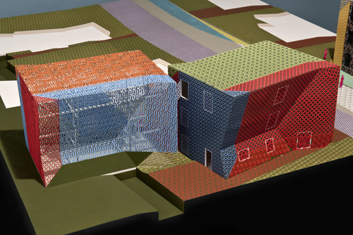 Architectural model for Zago Architectures Property with Properties project for Rialto, California. Photograph courtesy of James Ewing.  2011 James Ewing