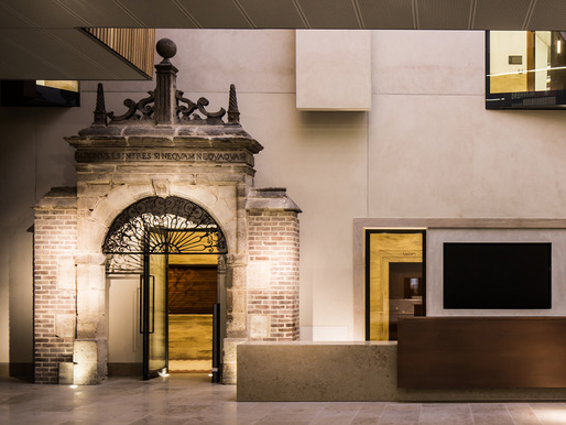 Ascott Park Gateway within the Blackwell Hall. Photo Credit: Ben Bisek for Wilkinson Eyre Architects.