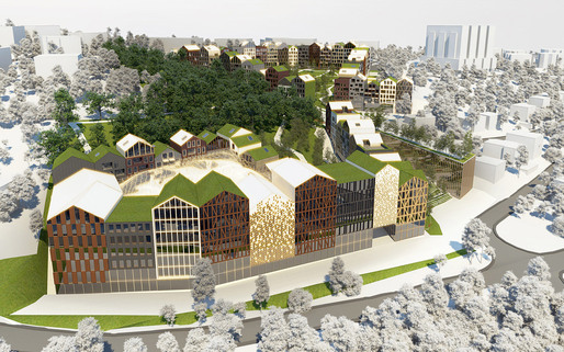 Winning design in the Parkhill competition in Bratislava, Slovakia by Nice Architects and 2ka landscape architects (Image: Nice Architects)