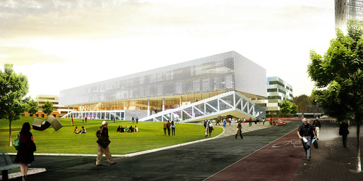 Exterior rendering (Image: OYO + office9 + Ingenium)