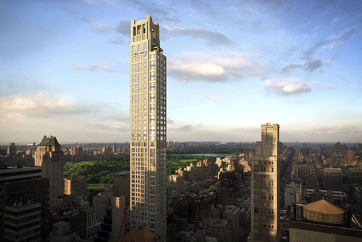 The 12,394-square-foot property will span the top three floors at 520 Park Ave., where sales will begin the first quarter of next year. (Bloomberg; Image: Zeckendorf Development LLC and Seventh Art)