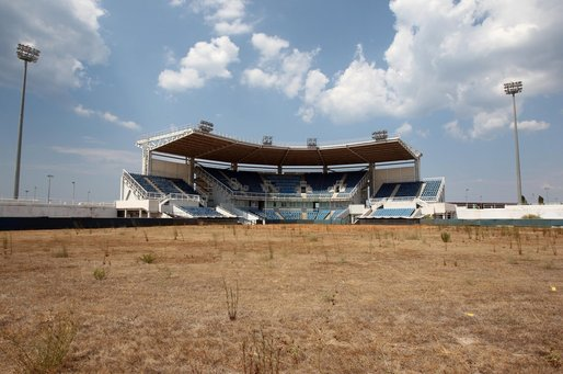 The 2004 Olympic softball stadium in Athens. (AP)