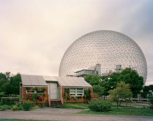 "Montreal 1967 World's Fair, ""Man and His World,"" Buckminster Fuller's Geodesic Dome With Solar Experimental House, 2012 © JADE DOSKOW"