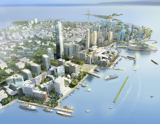 Urban Design Honor Award Winner: Qingdao Harborfront in Qingdao, Shangdong, China by EE&amp;K a Perkins Eastman Company (Image Credit: EE&amp;K a Perkins Eastman company)