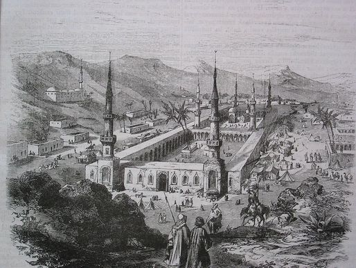 The Prophet's Mosque during the Ottoman period. Credit: WikiCommons